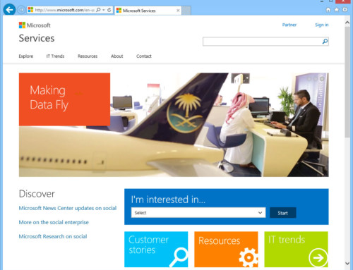 Microsoft Services Website Projects and Support